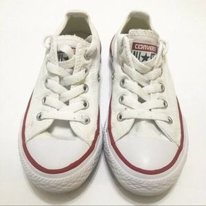 Converse All Star Low Top White Sneakers Toddler